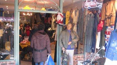 American shop in the flee market