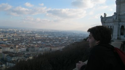 Looking out over Lyon