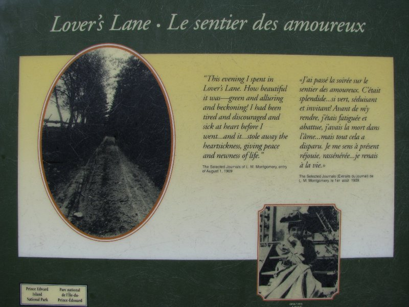 Lover's Lane from Anne of Green Gables