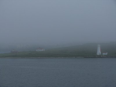 Foggy Halifax Harbor