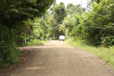 The road to Cabuya