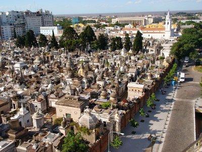 Recoleta cementerio, view from the hotel
