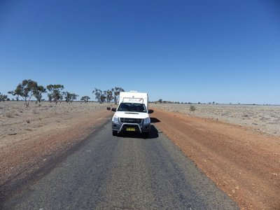 Single lane Road from Quilpie to Windorah