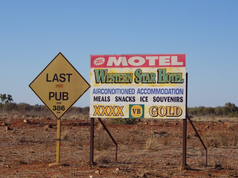 Last Pub Sign at Windorah