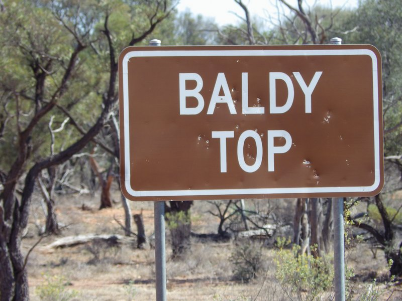 Baldy Top Sign