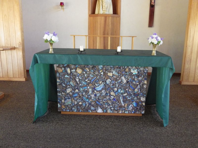 Opal alter in Quilpie Church