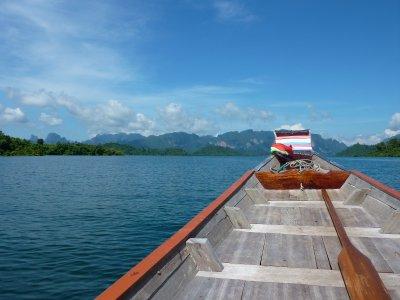 K.Sok Cheow Lan Lk Limestone Mountains & Boat