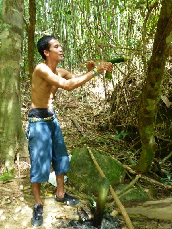 K.Sok Guide pouring Jungle Coffee