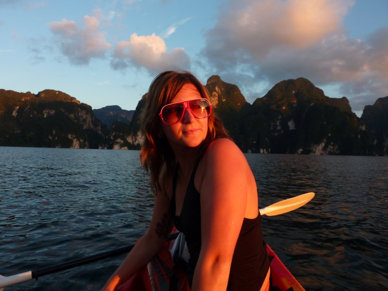 K.Sok Cheow Lan Lk Me in kayak 4 sunset