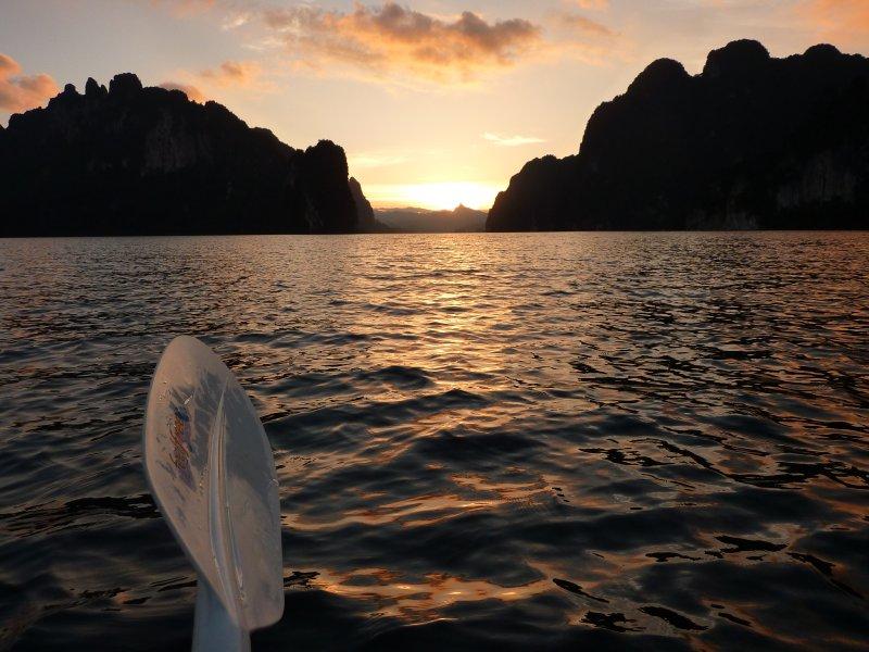 K.Sok Cheow Lan Lk paddle sunset