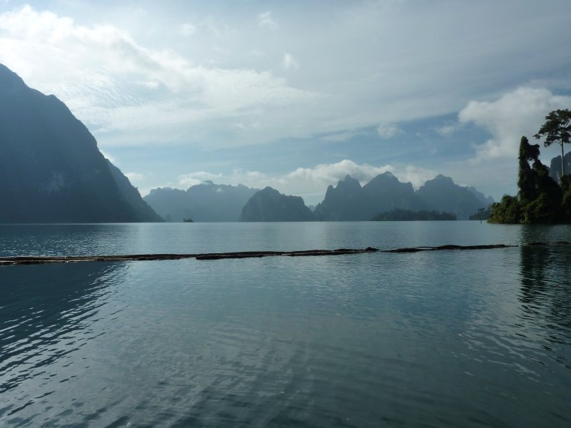 K.Sok Cheow Lan Lk  View from Bamboo Raft House