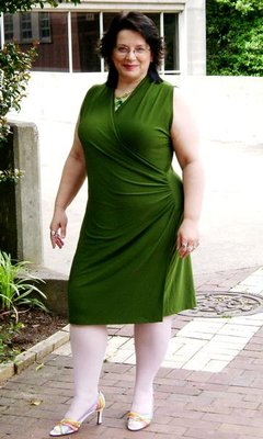 Green Dress on a Sunny Day