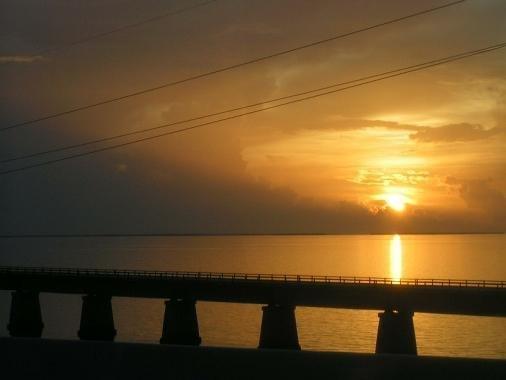 Sunset off of Marathon Key