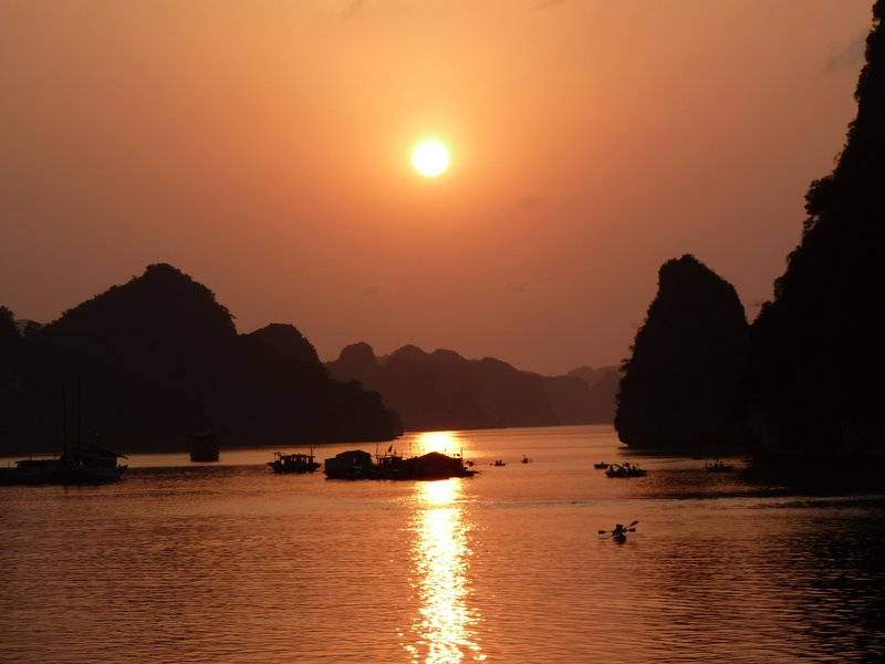 Sunset at Ha Long Bay