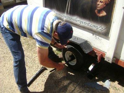 Tire Blowout near caddo lake LA 001