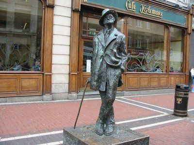 "The James Joyce statue is nicknamed ""The Prick with the Stick"""