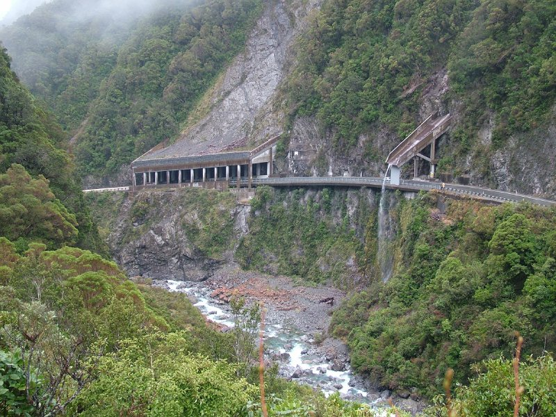 Road from Hokitika to Arthurs Pass