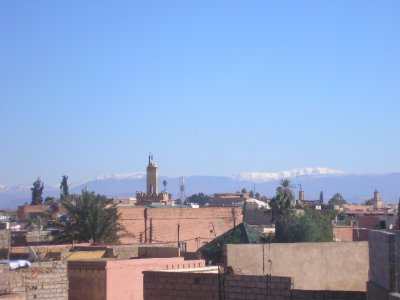 Marrakech with Atlas Mountains