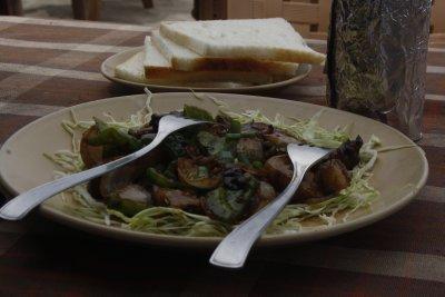 24.4. Chilly Pork  & Bread Arambol