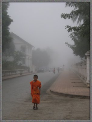 Monk in Fog