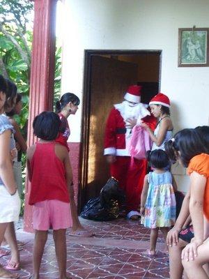 Santa at the orphanage