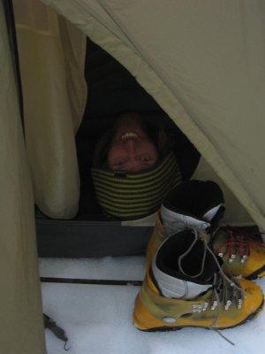 ...besser ins Zelt