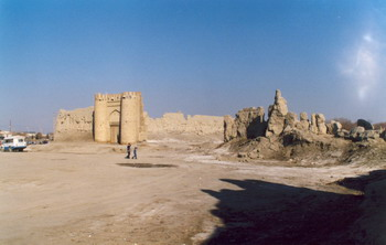 Old walls of Bukhara city