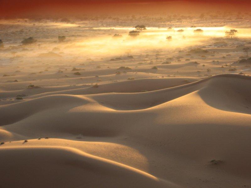 Sunrise over sossusvlei