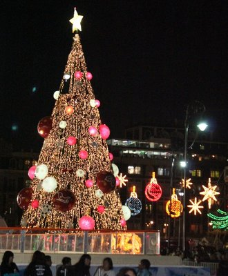 Christmas tree in the Zocalo