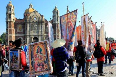 Pilgrims at the Basilica de Guadalupe