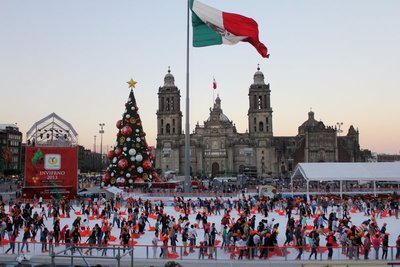 Ice rink in the Zocalo