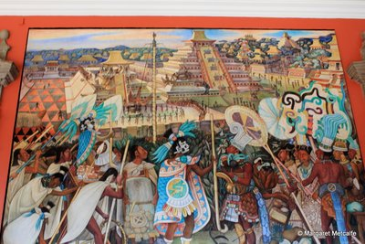 Wherever life takes us for Aztec mural painting