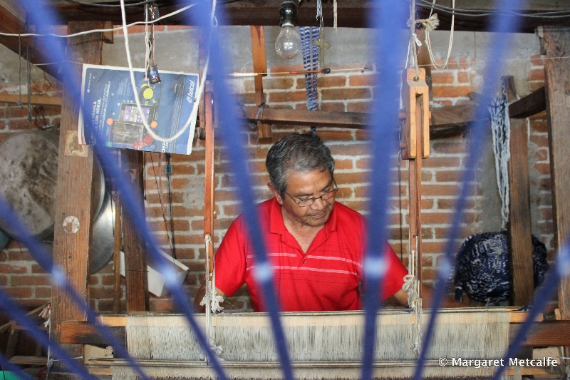 Master weaver at work
