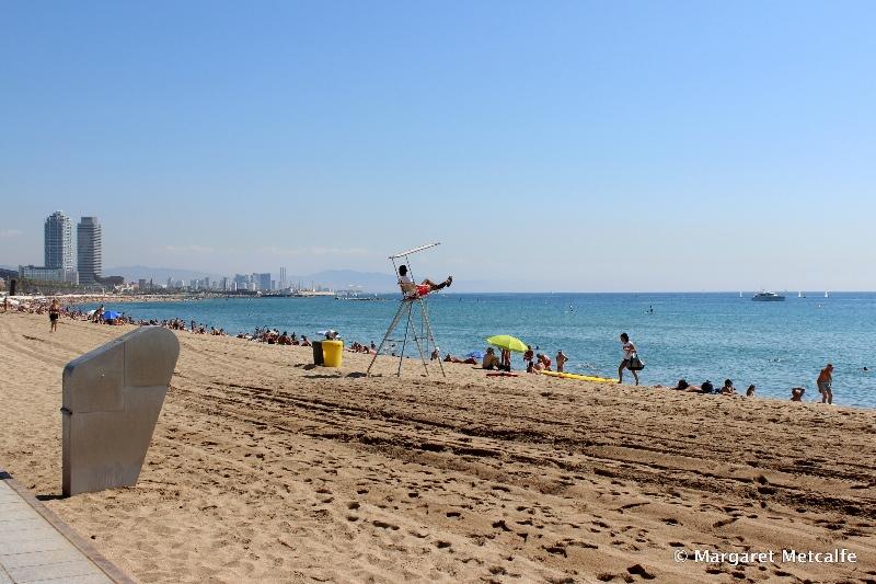 Lifeguard on Barcelona beach