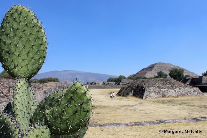 Aztec pyramids at Teotihuacán, Mexico