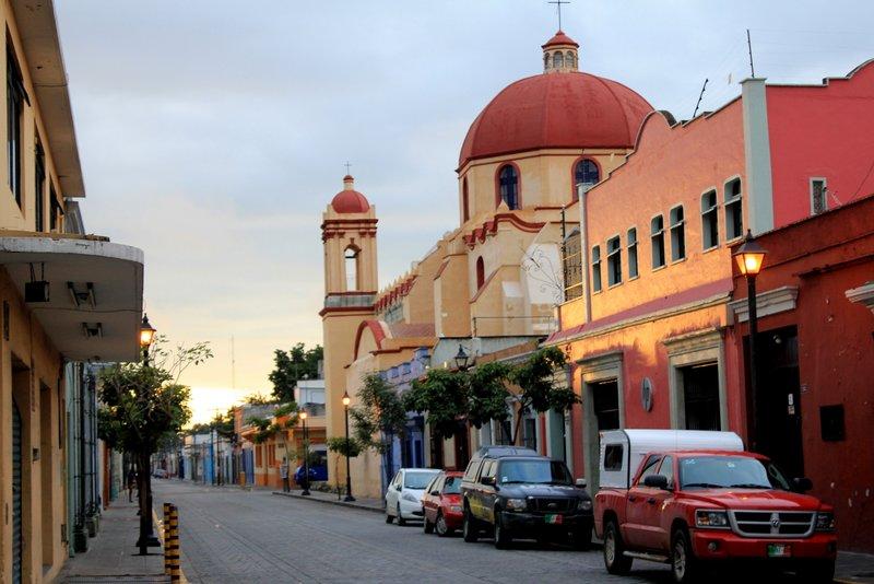 Church in Oaxaca at dawn
