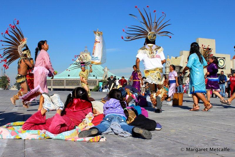 Aztec Indians dancing