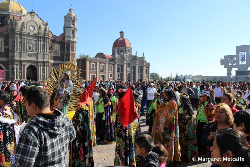 People outside the New Basilica