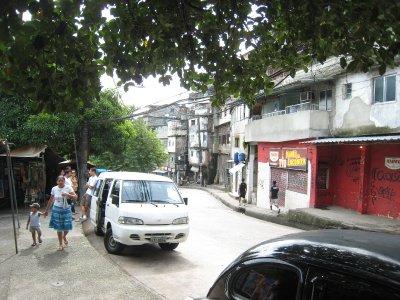 Busje waarmee we de Favela's bezochten