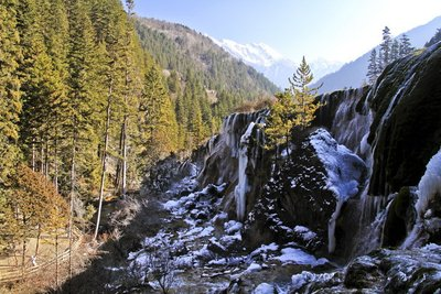 Jiuzhai Valley in Winter