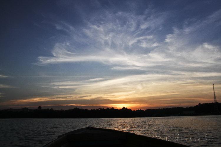 Sunset on Kampong Ayer