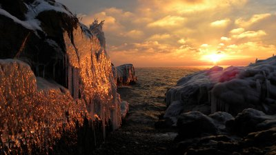 Sunrise and Ice