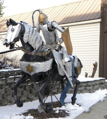 Metal Sculpture in Kellogg, ID