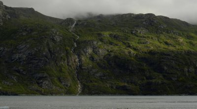 Fjord Waterfall in Morning Light
