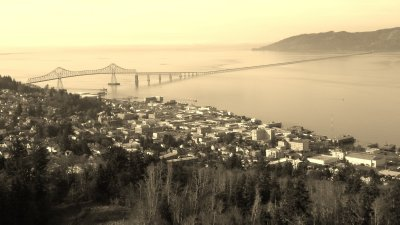 Astoria, The Astoria Bridge, and Cape Disappointment, Washington