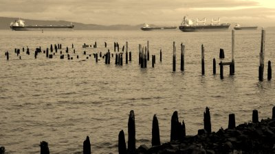 Pilings and Ships