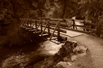 Wooden Bridge Crossing