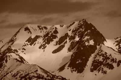 Strong Mountain Scene