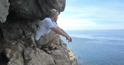 Climbing on Santa Catalina