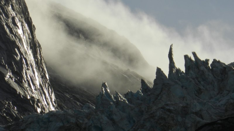 The Hoonah Glacier in Mist